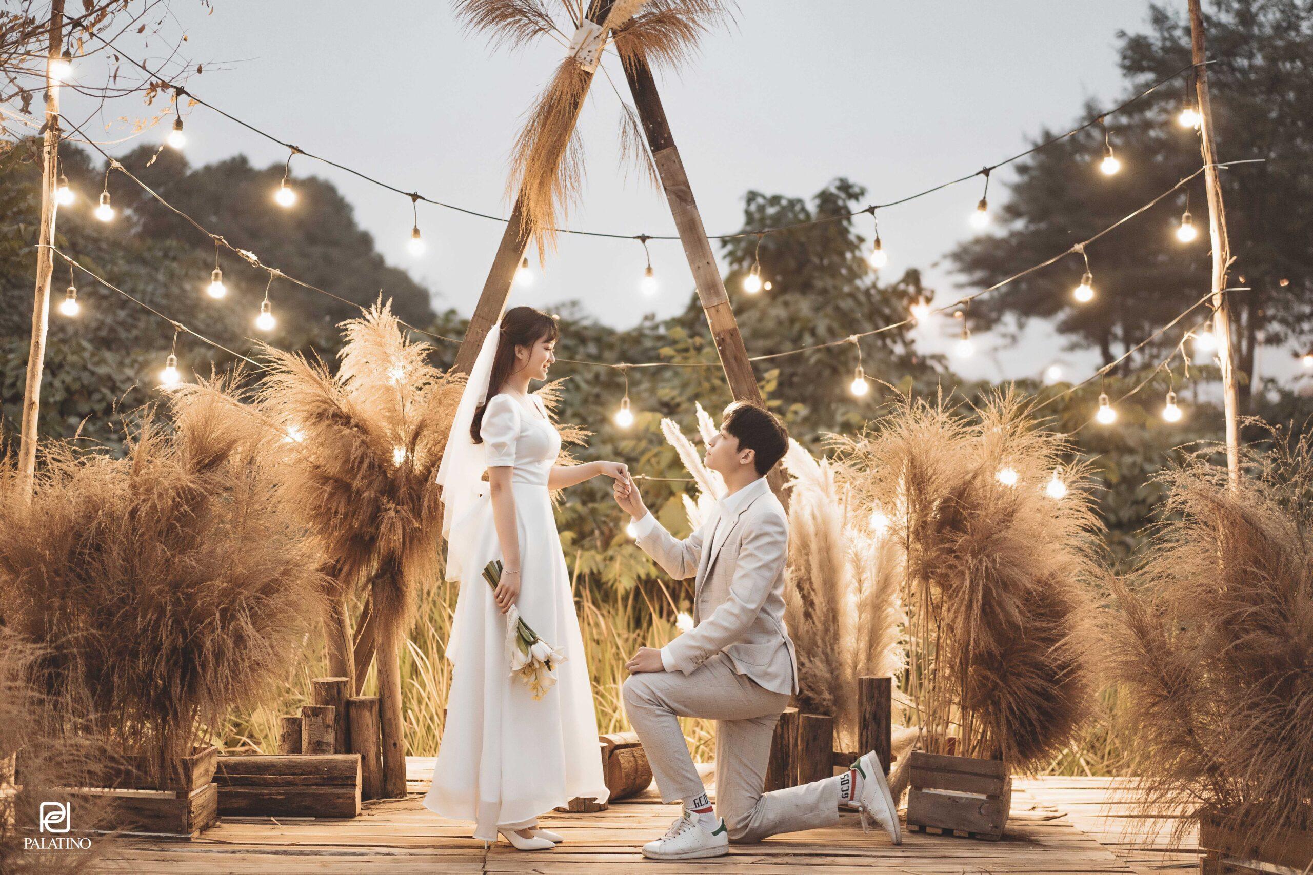 Chụp ảnh cưới tại phim trường Santorini