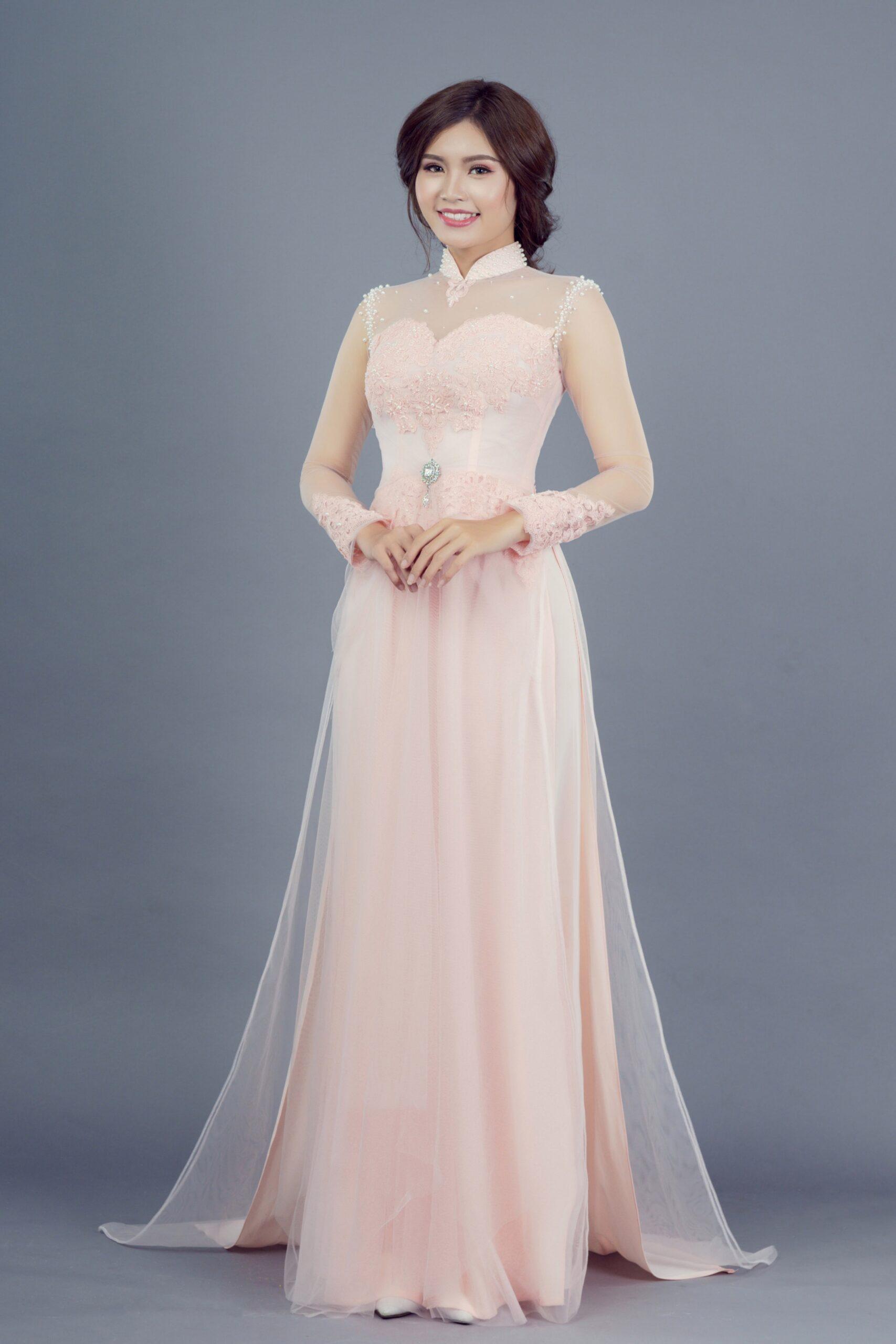 mẫu áo dài cưới