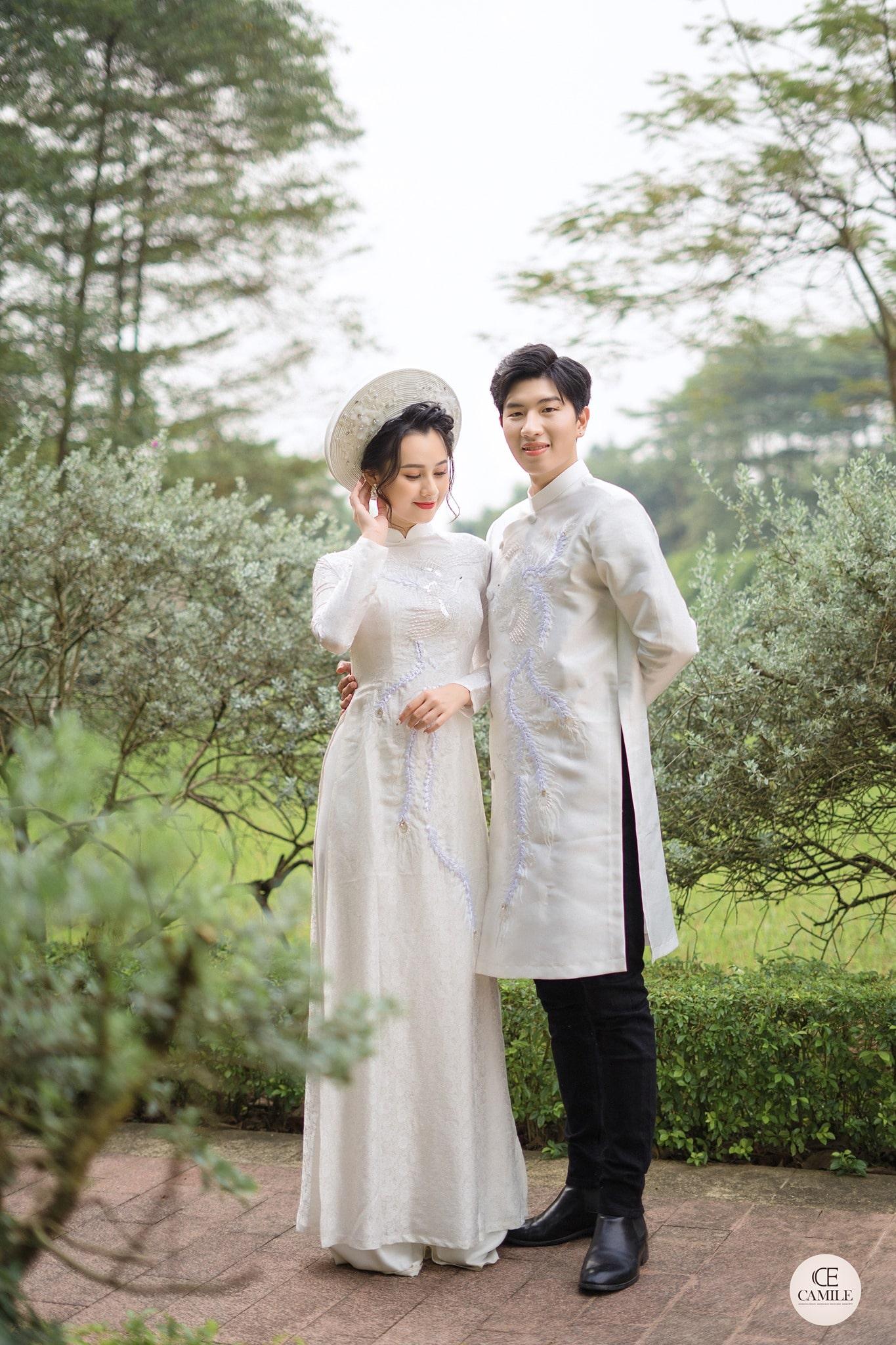 mẫu thiết kế áo dài cưới nam