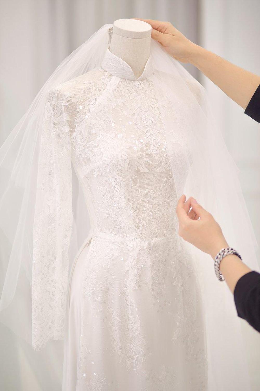 vải may áo dài cưới đẹp