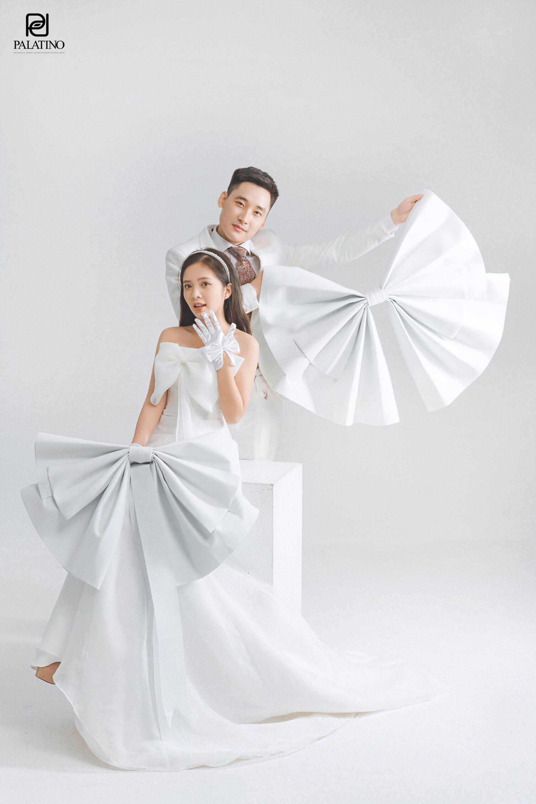 concept chụp ảnh cưới trong studio