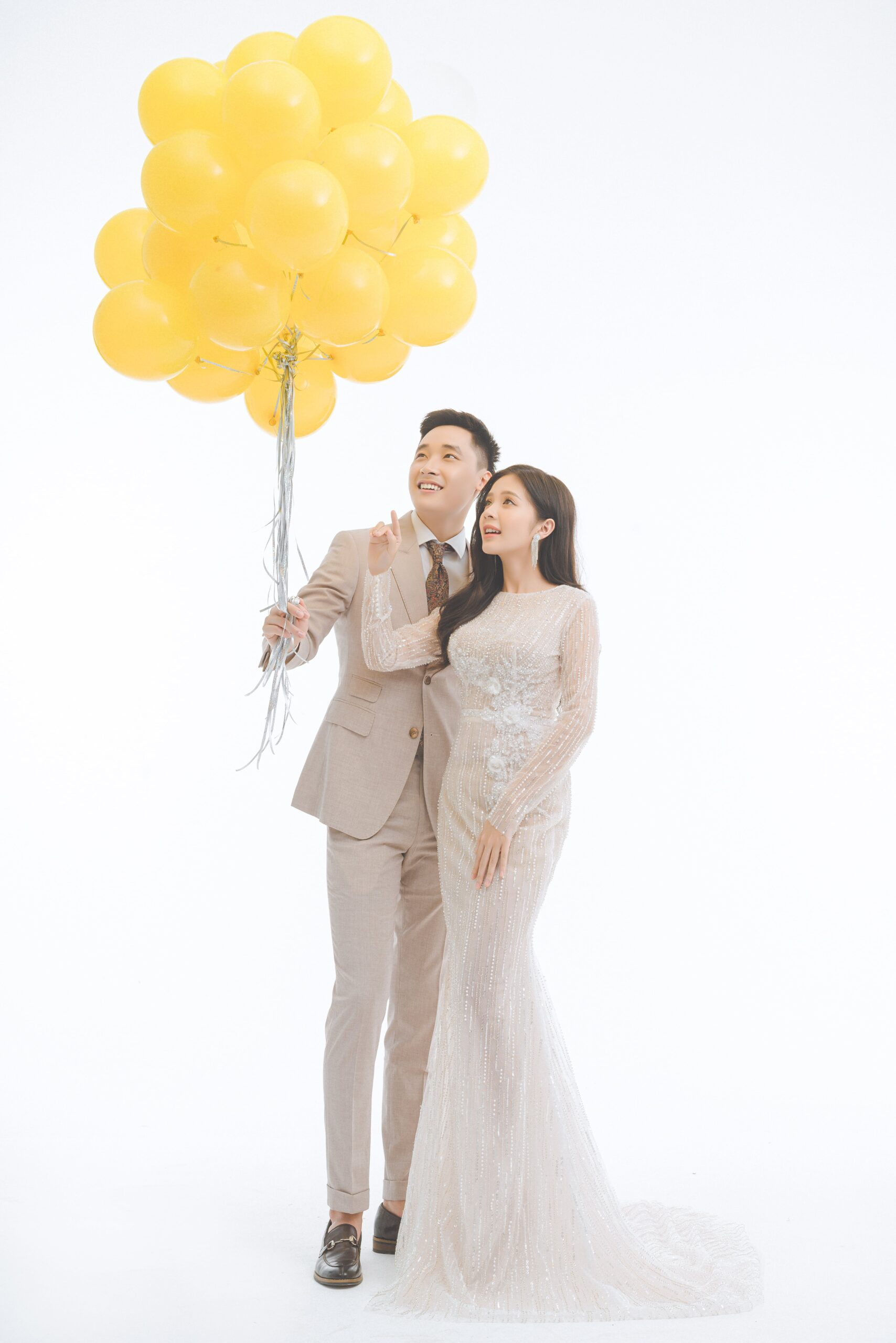 Ý tưởng chụp ảnh cưới trong studio