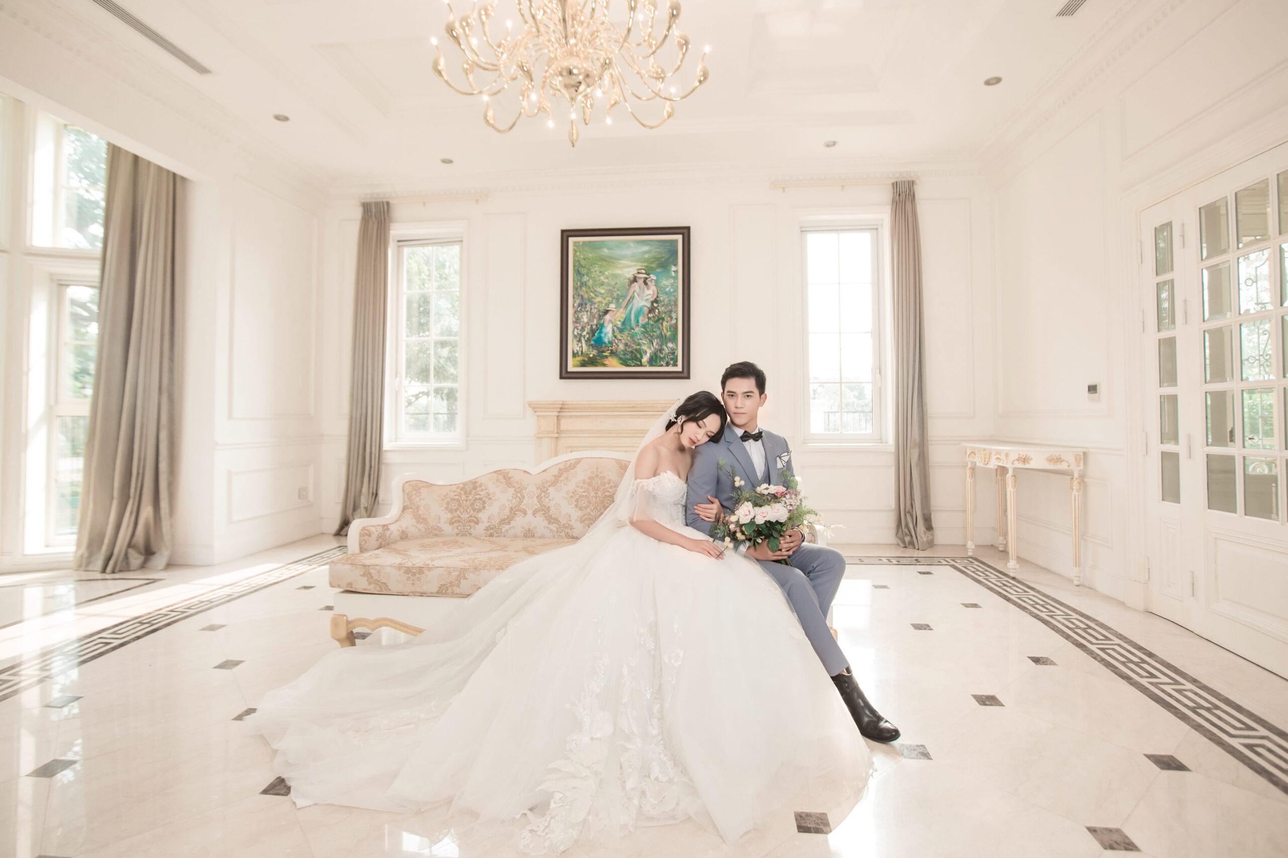 Chụp ảnh cưới tại Biệt thự Hoa Hồng