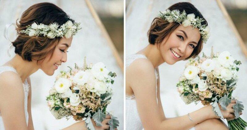 Makeup cô dâu tóc ngắn