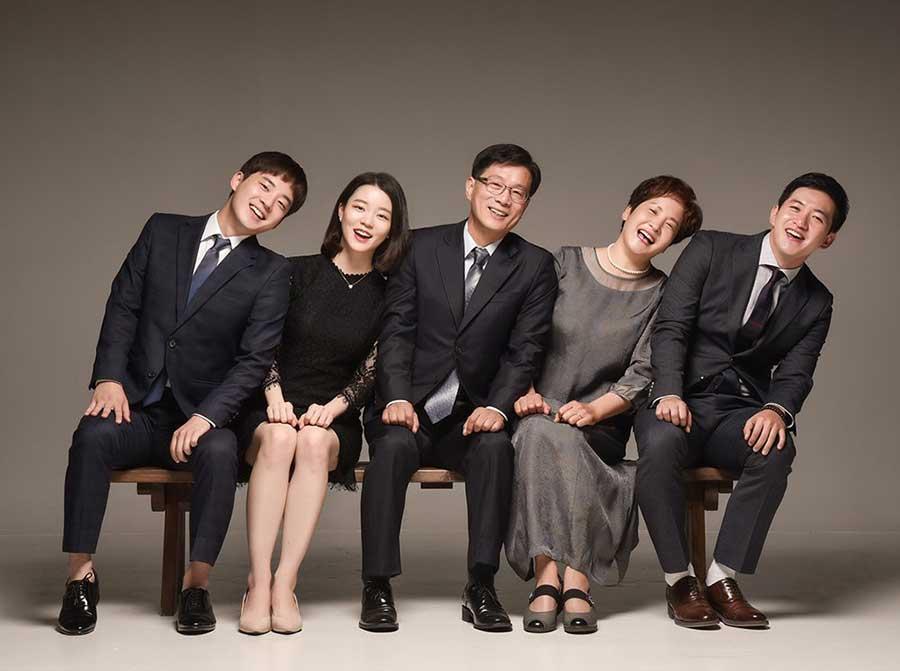 Bộ ảnh gia đình kiểu Hàn Quốc