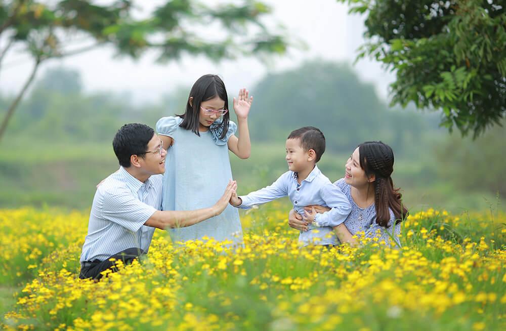 Kinh nghiệm chụp ảnh gia đình ngoại cảnh đẹp